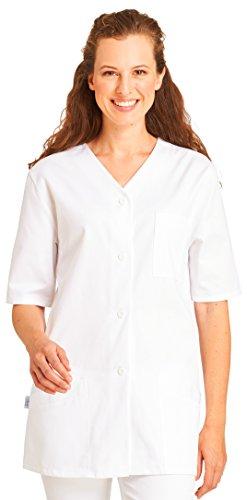 clinicfashion 10110053 Kurzkasack weiß für Damen, Baumwolle, Größe 48