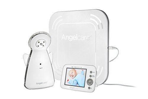 Angelcare Baby Monitor with Video, Movement and Sound AC1300, White