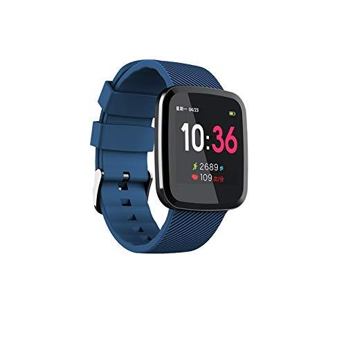 FUNRE Ultra-thin Smart Watch Heart Rate Monitor Fitness Bracelet Pedometer Activity Tracker Sport Watch Men (Color : Blue)