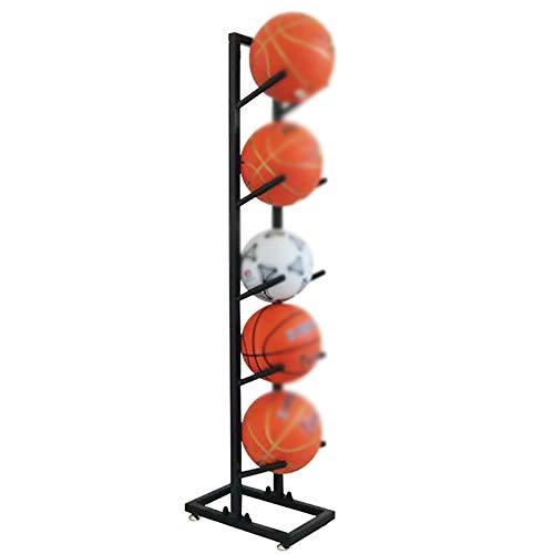 YLiansong-home Cesta de Recogida de Bola Cesta Rack de exhibición de Baloncesto de Almacenamiento de Baloncesto de 5 Capas Adecuado para escuelas y hogar Cesta de Recogida de Bola
