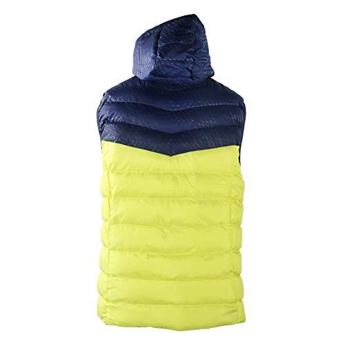 Veste chauffante, Hommes Chauffant Gilet à Capuche Gilet Chauffant extérieur vêtements d'hiver Tenue 3 Niveaux température Intelligente réglable(XL)