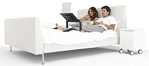 "Uncaged Ergonomics WorkEZ Executive Adjustable Ergonomic Laptop Cooling Stand Lap Desk for Bed Couch with 2 Fans & 3 USB Ports folding aluminum desktop riser tray height tilt angle portable macbook cooler cooling,Black, ""panel: 18"" by 11"""" (WEEFHb) Photo #3"