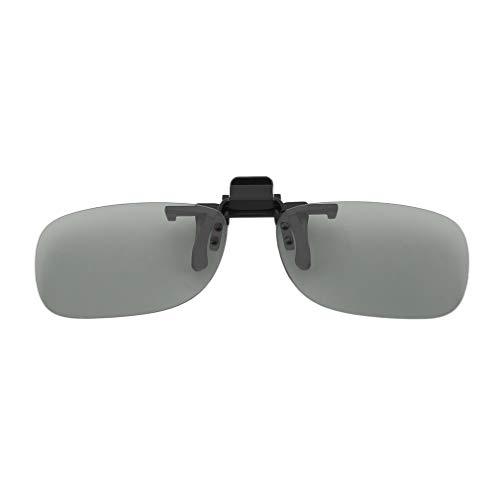 YLWL Clip On Passive Circular Polarized 3D Brille Clip für LG 3D TV Cinema Film grau