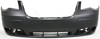 Front Bumper Cover Compatible with 2008-2010 Chrysler Town & Country Primed with Headlight Washer Holes