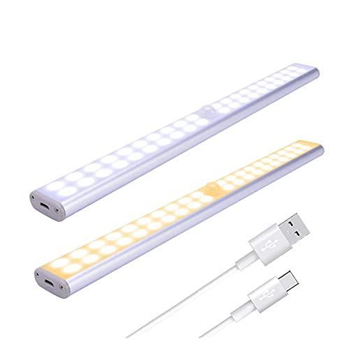 Sensore di movimento sotto la luce dell'armadio USB Ricaricabile PORTATO Light Light Lungo Striscia magnetica Lampada notturna per Scale Cucina Armadio Armadio Night Light Closet Scale Scale Cucina
