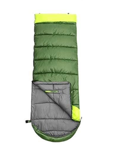 WERTYG Sacos de dormir para acampar al aire libre tipo sobre empalme doble algodón para adultos 3 estaciones, saco de dormir de viaje al aire libre (color: B)