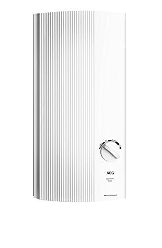 AEG Haustechnik AEG elektronischer Durchlauferhitzer DDLE Basis 13 kW, druckfest, für die Küche, stufenlose Temperaturwahl mit 4 Anwendungssymbolen, solargeeignet, 229297, W, 400 V, Weiß
