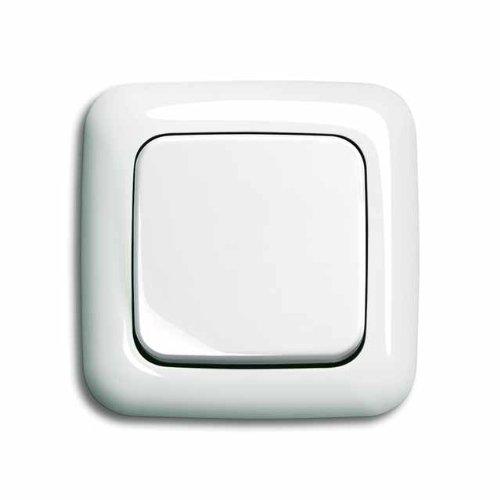 Komplett-Set BUSCH-JAEGER, Wechselschalter -weiß- -Reflex SI-