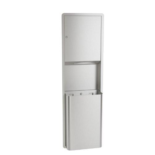 Bradley 234-000000 Standard Stainless Steel Recessed Mounted Towel Dispenser/Waste Receptacle, 17-1/8