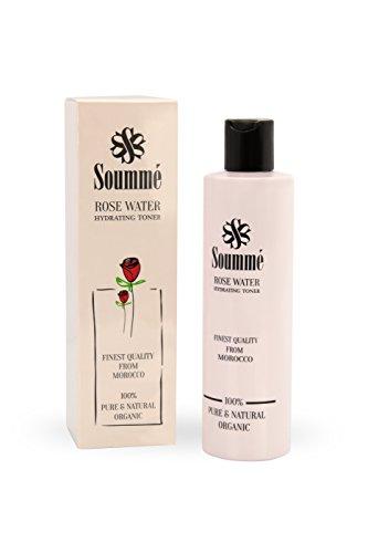 Soummé Rosenwasser - 100% biologisch, organisch & natürlich - ganze 280 ml - reinigend, pflegend und feuchtigkeitsspendend - vegan und bio zertifiziert