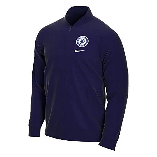 Nike 2020-2021 Chelsea Fleece Trainingsjacke (Marineblau)
