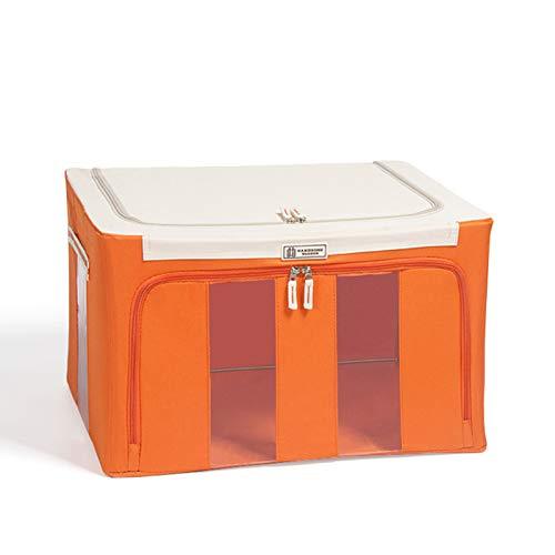 Caja de Almacenamiento con Marco de Acero de Tela Oxford para Ropa, sábanas, Manta, Almohada, Soporte para Zapatos, Organizador de contenedores