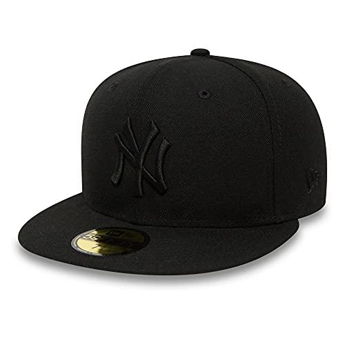 New Era Erwachsene Baseball Mütze MLB Basic NY Yankees 59 Fifty Fitted, schwarz(Schwarz), 7 3/8 (58.7 cm)