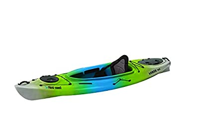 58154 Third Coast Arbor 100 Sit In Recreational Kayak (Citron/Blue/White) by KL Industries