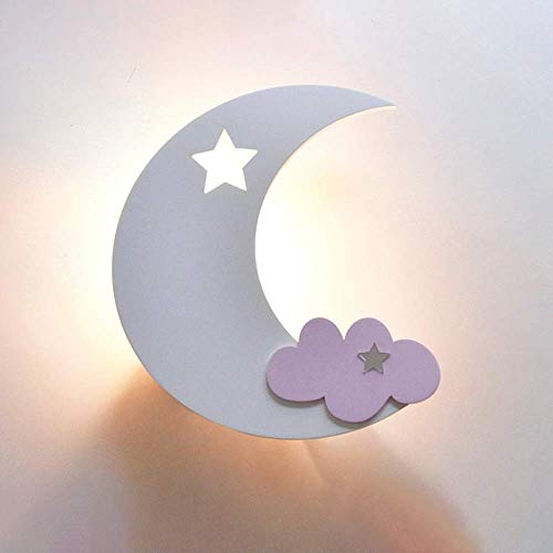 JOSN Applique da Parete per Bambini, Applique Moderna al Chiaro di Luna - Applique da Parete per Bambini, Illuminazione Interna per camerette,D