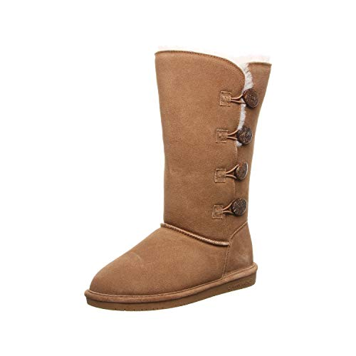 Bearpaw Casual Boots Womens Lori 12' Toggle TPR 8 M Hickory II 2250W