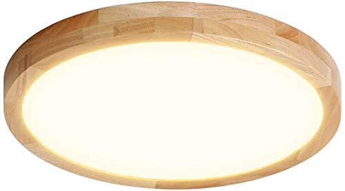 CDwxqBB Plafón De Madera Maciza Ajustable De Tres Colores, Plafón De Baño LED, Que Se Utiliza En El Dormitorio, La Cocina, La Sala De Estar Y El Pasillo [A-Level Energy ++],30cm