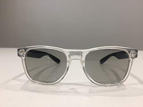 3D Brille klar Wayfarer Design mit polarisierten Gläsern, geeignet für Kino und alle passiven 3D TVs - Sony, LG, Panasonic, Toshiba