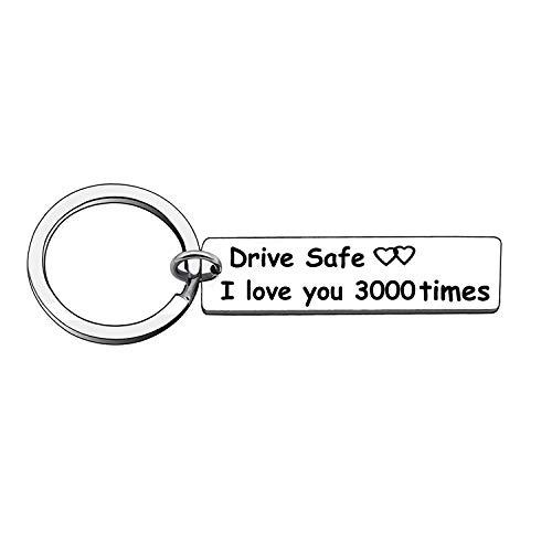 Drive Safe I Love You 3000 Auto-Schlüsselanhänger Schlüsselanhänger Geschenk für Vater, Mutter, Ehemann, Freund