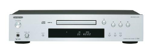Onkyo C-7030(S) CD-Player (Wiedergabe von Audio CD/CD-R/CD-RW/MP3 CD, VLSC Technologie für Pulsrauschunterdrückung, Remote Interactive Fernbedienung, Gerätefront aus Aluminium), Silber