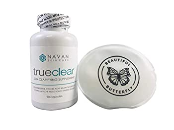 Navan Skincare TrueClear - Acne Pills and Vitamin Supplements for Acne Treatment and Skin Clarifying  90 Pills  Bundle Includes Ice Pack