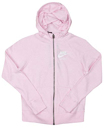Nike Sportswear Girls NSW Gym Vintage Full-Zip Hoodie US Pink Foam, Large