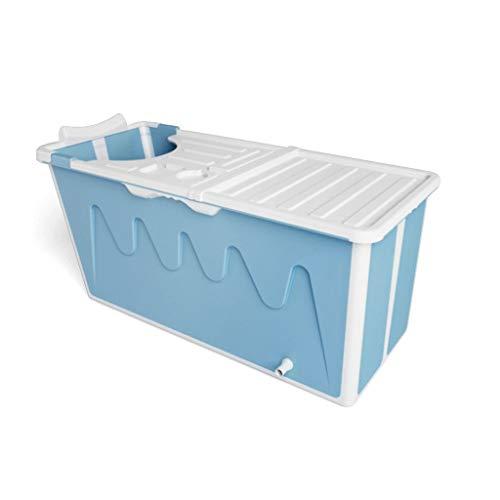 Bañera Plegable, Adulto Portatil Cubo de Baño Plástico Grande Con Tapa Mantener Caliente Inicio de Cuerpo Completo Piscina Para Niños