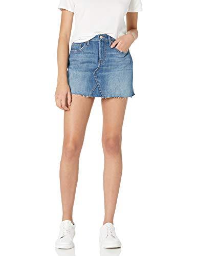 The Drop Women's Rosemore Deconstructed Denim Mini Skirt, Coastline Wash, L