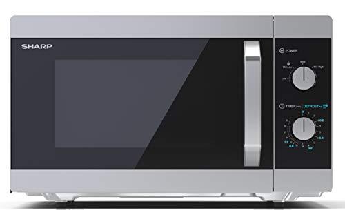 Sharp YC-MS31ES Mikrowelle mit Auftaufunktion/ 900 Watt/ 23 Liter/ 5 Leistungsstufen/ Timer-Funktion / inkl. Drehteller