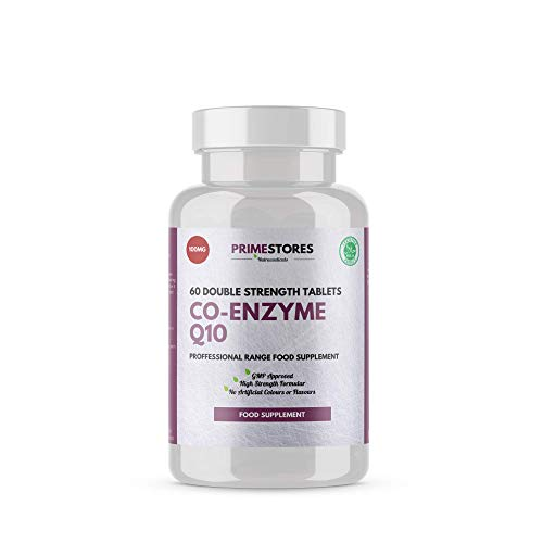 Co Enzyme Q10 Tablets 100mg - 60 CoQ10 Softgels - High Strength Natural Ubiquinol Ubiquinone Vitamin Capsules by Primestores