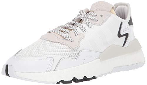 adidas Originals Men's NITE Jogger Running Shoe, White/White/Crystal White, 7 M US