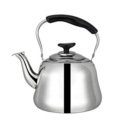 ASDFDG Stovetop kettle Stainless Steel Tea Kettle Automatic Whistle Bakelite Anti-scalding Handle Electrolysis Process Mirror Polishing Process (Size : 5L)