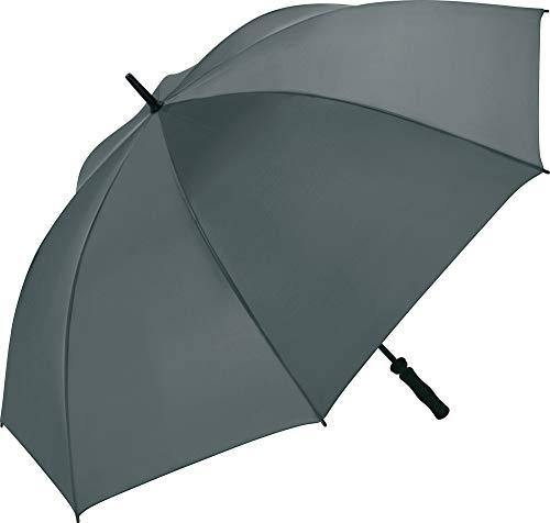 FARE Golf-Regenschirm Basic - XL 130 cm - Fiberglas - Golf-Sport Outdoor windsicher stabil (Grau)