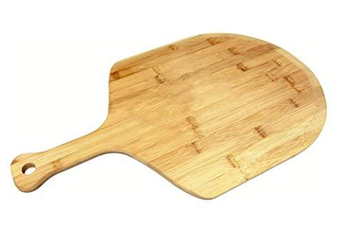 Karen Pizza Werkzeuge Großer Pizzaschaufel aus Holz, natürlicher Bambus, Schneidebrett mit Griff, für hausgemachte Pizza, Brot, Backen, Schneiden von Obst und Gemüse