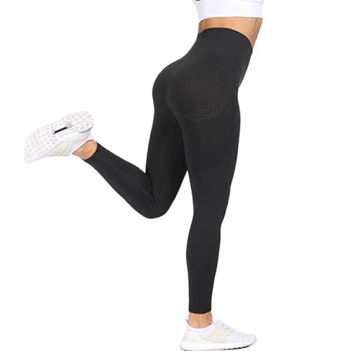 Pantalones de Yoga sin Costuras de Cintura Alta Deportes Pantalones Deportivos para Correr para Mujer Pantalones Deportivos para Entrenamiento en Cuclillas Pantalones Deportivos N XL