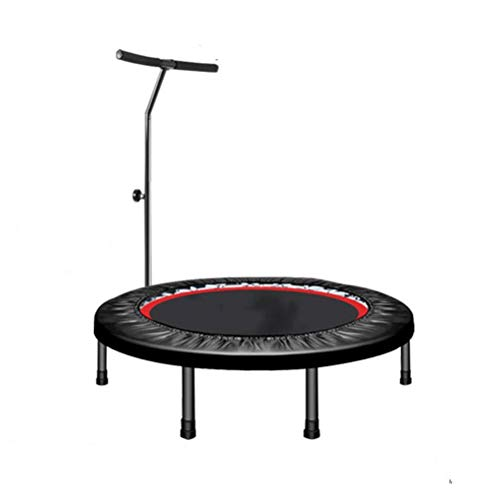 Fitness Trampoline for Adults, T Type Armrest Trampoline, Portable Collapsible Round Rebounder, Early Childhood Preschool Development Game Toys Bouncer Load: 200kg Best Aerobic Exercise Fitness Equipm