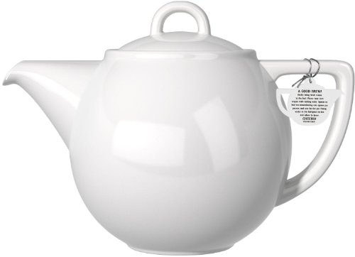 London Pottery Geo Teapot with Stainless Steel Infuser, 2 Cup Capacity, White