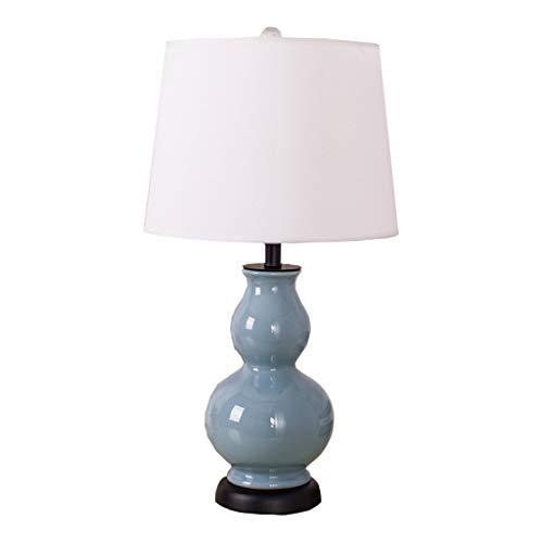 Lampe de table en céramique de salon bleu lampe de chevet chambre classique