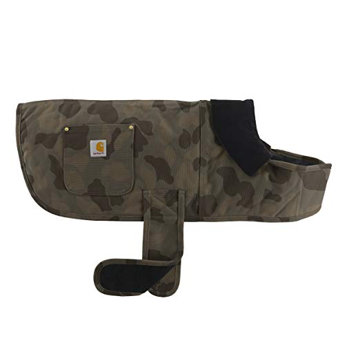 Carhartt Chore Coat, Dog Vest, Water Repellent Cotton Duck Canvas,Duck Camo Tarmac,Small
