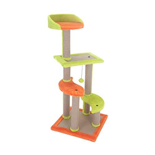 HXGL-Cat klimrek Krabpaal klimrek Nest Krabpalen bericht Platform Scratchboard Pet Supplies Toys Furniture Grote Multilayer Fitness eenvoudig te monteren (Size : L45*W45*H107cm)