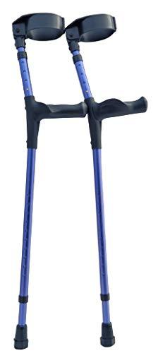 Adult Forearm Crutches Adjustable 3 1/2 inch Full Cuff - OrthoStix (Navy Blue)
