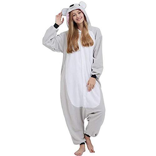 Einhorn Adult Pyjama Cosplay Tier Onesie Body Nachtwäsche Kleid Overall Animal Sleepwear Erwachsene,Grau,S