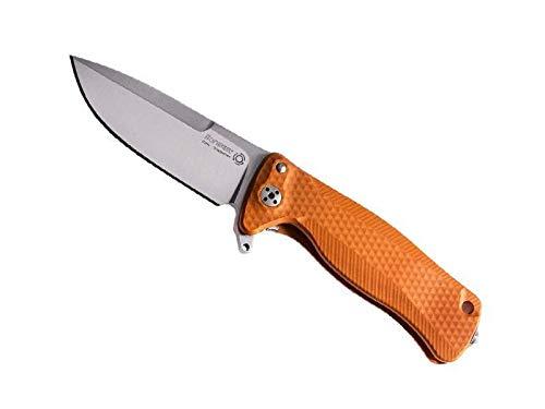 Lionsteel sr22a.os Couteau SR, Lame Acier Sleipner satiné, Manche Monobloc Solid® 10 cm Aluminium Orange