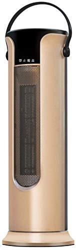 Elektroheizungen Oszillierende Ptc-Keramik-Standheizung Fernbedienung Standheizung Interne Oszillation 10-Stunden-Timer 2 Heizstufen Thermostat und Sicherheitsabschaltung, O&YQ, Gold, Knopfart