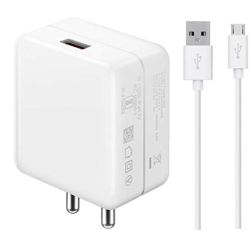 ShopMagics Fast Quick Charger for Samsung Galaxy Core Lite LTE, Samsung Galaxy Core Max, Samsung Galaxy Core Mini 4G, Samsung Galaxy Core Plus Charger Original Like Adapter   Qualcomm Quick Charge 3.0   Adaptive Fast Charger   Android Mobile USB Charger With 1 Meter Micro USB Charging Data Cable (DS2, White)