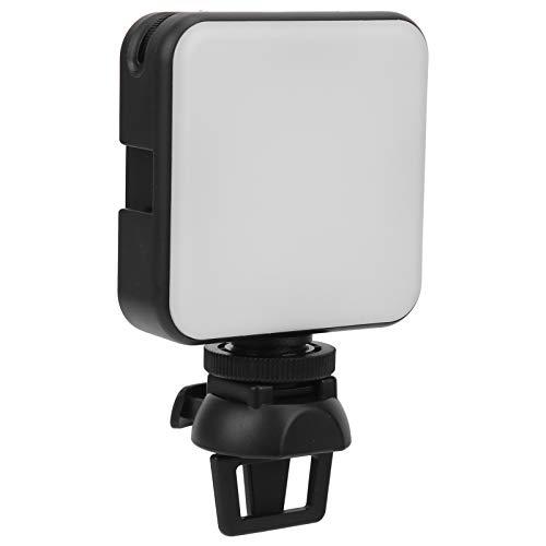 T opiky Mini Juego de Luces de Relleno LED, portátil 6W 2500K-6500K 850lm 3-6m Rango de luz Lámpara de Relleno Regulable con Clip/Interfaz de Zapata fría de 1/4 pulg.