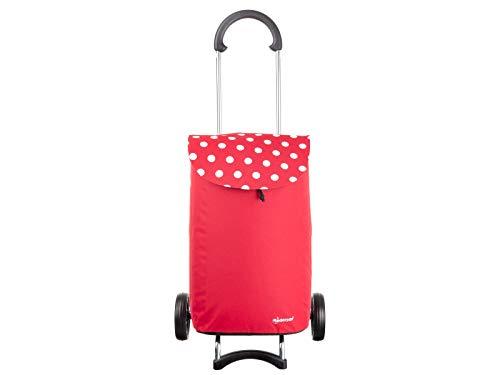 Andersen Scala Shopper Elba Einkaufstrolley Rot/Weiße Punkte