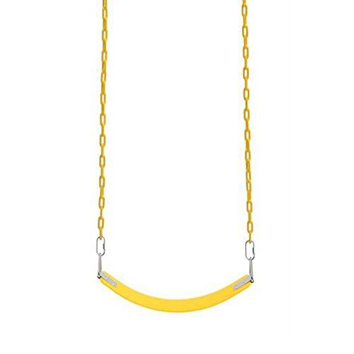 Columpio Caballo Suave de EVA para niños con Cadena de Hierro, jardín al Aire Libre Juego de Juguete para Juguete Silla Colgante (Color : Yellow, Size : 1.2m Chain)