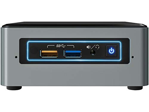 Intel NUC NUC6CAYSAJ 1.50GHz J3455 Negro, Gris Mini PC - Ordenador de sobremesa (1,50 GHz, Intel Celeron, J3455, 2 GB, 32 GB, Windows 10 Home)