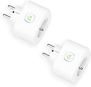 Enchufe Inteligente, Mide el Consumo 16A 3680W Wi-Fi Smart Plug, con Control Remoto Meross App. Compatible con Alexa, Google Assistant y SmartThings. Paquete de 2. MSS310